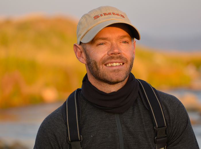 A photo of Landon Mayer, one of Colorado's elite fly fishing guides and instructors.