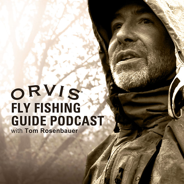 The Orvis Fly Fishing Guide Podcast with Tom Rosenbauer Logo