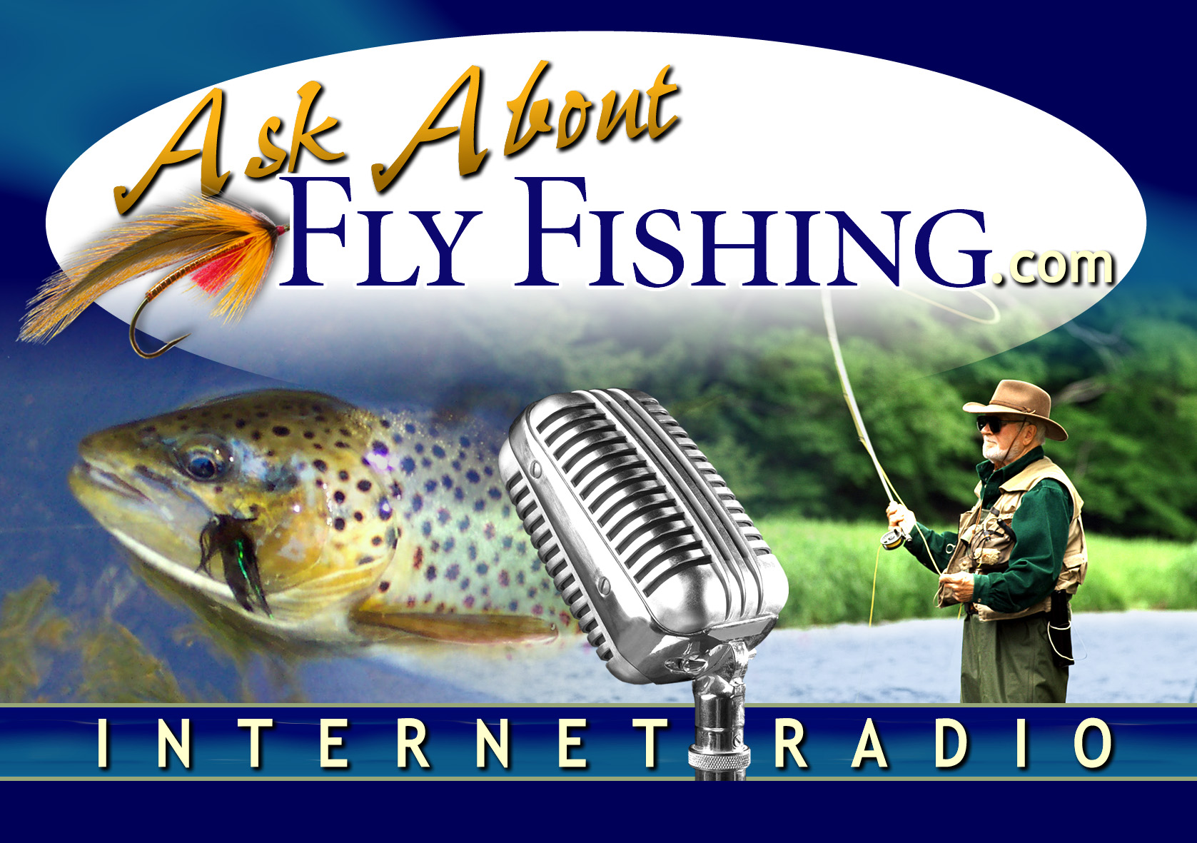 Ask About Fly Fishing.com Internet Radio Logo