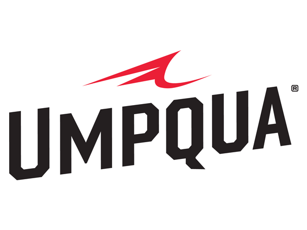 The logo for Umpqua Feather Merchants, for whom Landon Mayer is a royalty fly-tier.