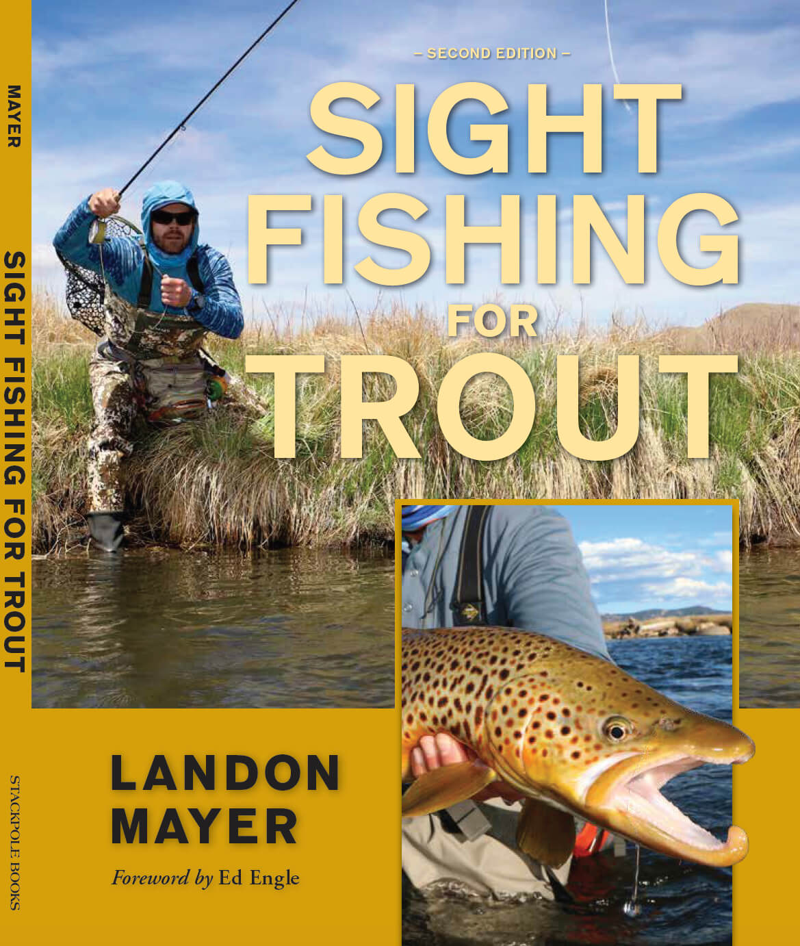 The cover of Landon Mayer's book Sight Fishing for Trout