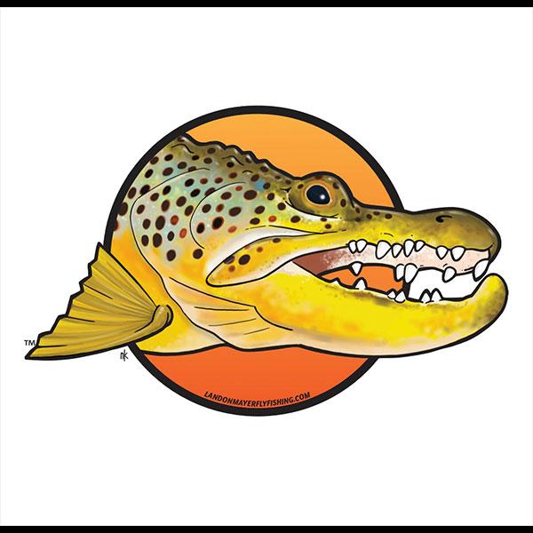 gator brown sticker