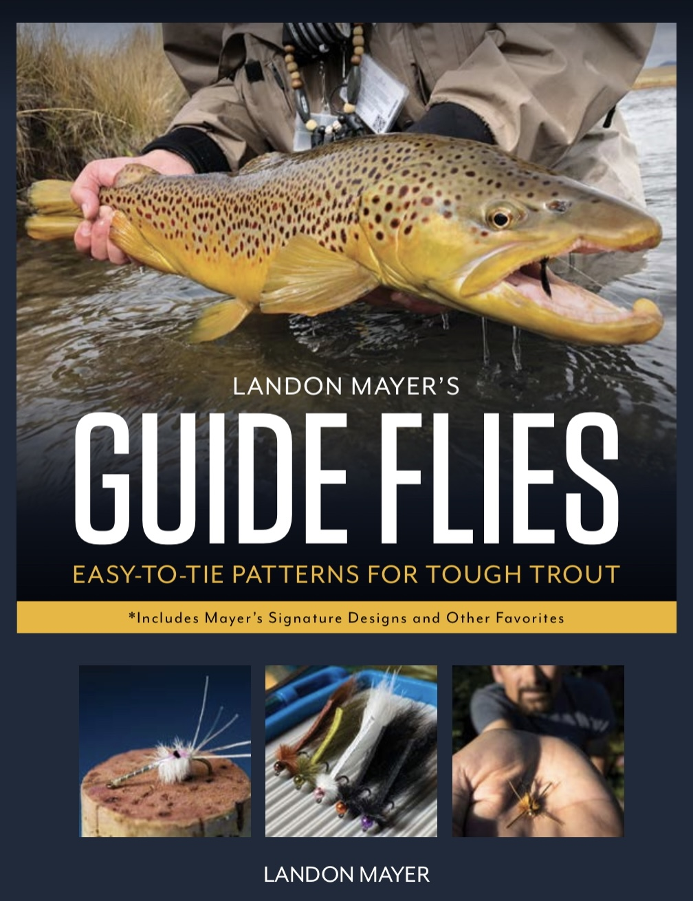 The cover of Landon Mayer's upcoming book The Hunt for Giant Trout